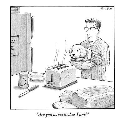 """Are you as excited as I am?""  - New Yorker Cartoon-Harry Bliss-Premium Giclee Print"