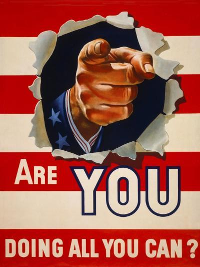 Are You Doing All You Can?--Giclee Print