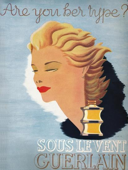 'Are you her type? - Sous Le Vent Guerlain', 1937-Unknown-Giclee Print