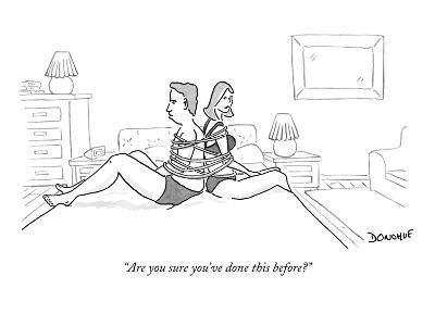 """Are you sure you've done this before?"" - New Yorker Cartoon-John Donohue-Premium Giclee Print"