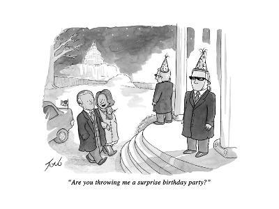 """Are you throwing me a surprise birthday party?"" - Cartoon-Tom Toro-Premium Giclee Print"