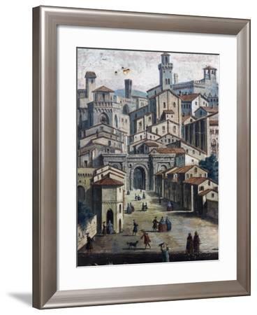 Area around Porta San Pietro--Framed Giclee Print
