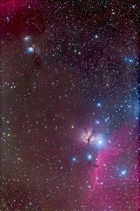 Area around the Belt of Orion, with the Horsehead and Flame Nebula