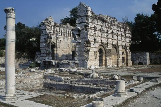 Area of the Gymnasium and the East Wall of the Frigidarium, North Bath--Giclee Print