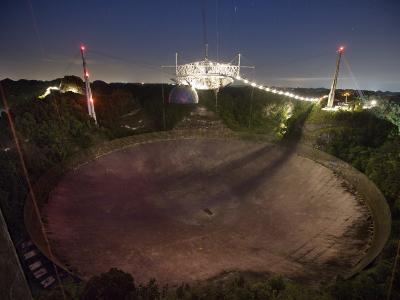 Arecibo Observatory in Puerto Rico collects astrological data-Stephen Alvarez-Photographic Print
