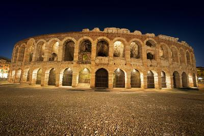 Arena Di Verona by Night - Italy-Alberto SevenOnSeven-Photographic Print