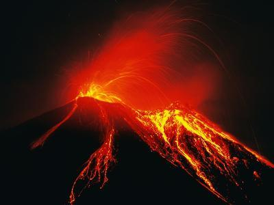 Arenal Erupting-Kevin Schafer-Photographic Print