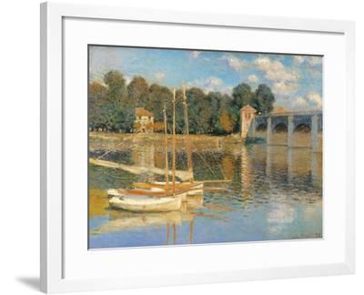 Argenteuil Bridge-Claude Monet-Framed Art Print