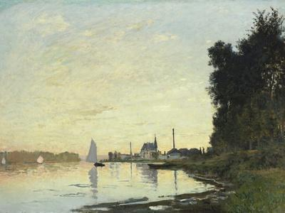 Argenteuil, Late Afternoon, 1872-Claude Monet-Giclee Print