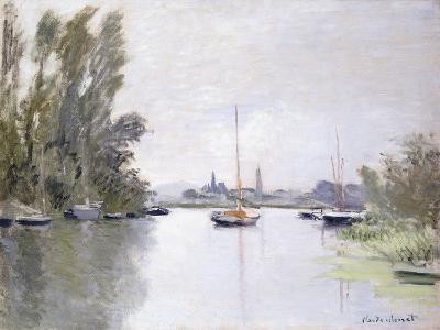 Argenteuil, view of the Small Arm of the Seine (Argenteuil, vue du Petit Bras de la Seine). 1872-Claude Monet-Giclee Print