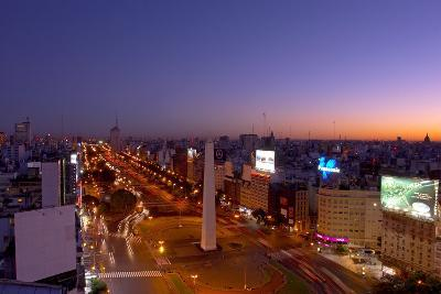 Argentina, Buenos Aires, Avenida 9 De Julio, Plaza of De La Republica, Obelisk-Chris Seba-Photographic Print