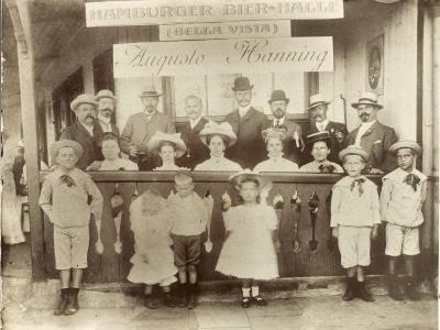 Argentina - Hamburger German Bier Halle--Photographic Print