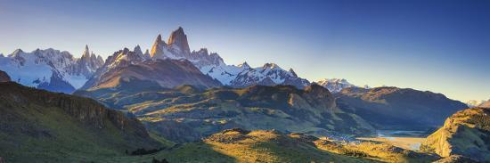Argentina, Patagonia, El Chalten, Los Glaciares National Park, Cerro Torre and Cerro Fitzroy Peaks-Michele Falzone-Photographic Print