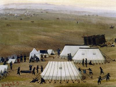 Argentine Camp During War Against Paraguay-Candido Lopez-Giclee Print