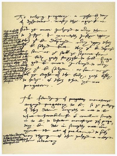 Arguments Against Purgatory in the Hand of Hugh Latimer, Bishop of Worcester, C1538-Hugh Latimer-Giclee Print