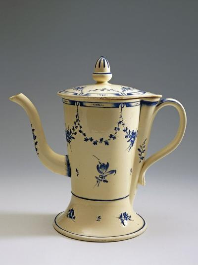 Argyll Pearlware Teapot with Floral Decoration, 1780--Giclee Print