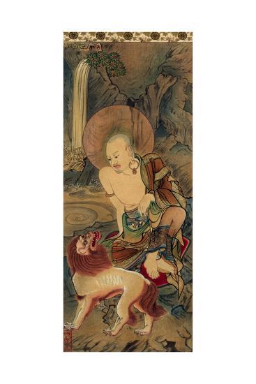 Arhat, Japanese, Late Kamakura Period, 14th Century--Giclee Print