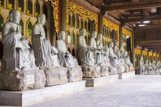 Arhat Statues at Bai Dinh Temple (Chua Bai Dinh), Gia Vien District, Ninh Binh Province, Vietnam-Jason Langley-Photographic Print