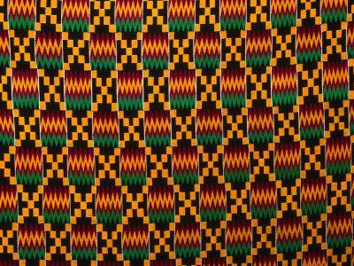 Detail of Hand-Woven Asante Ceremonial Cloth, Hohoe, Volta, Ghana