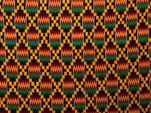 Detail of Hand-Woven Asante Ceremonial Cloth, Hohoe, Volta, Ghana by Ariadne Van Zandbergen
