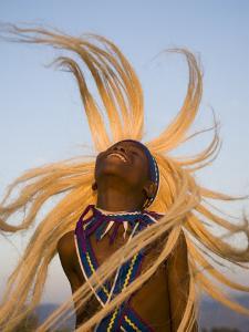 Intore Dancer Flicking His Hair, Rwanda by Ariadne Van Zandbergen