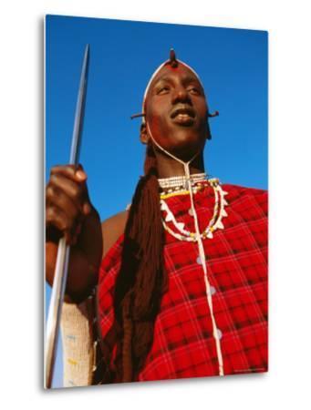 Ochre-Painted Maasai Moran, Longido, Arusha, Tanzania