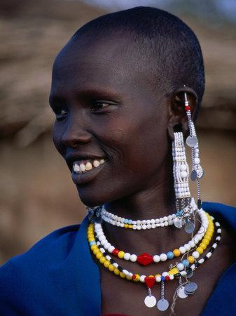 Portrait of a Maasai Woman, Lake Manyara National Park, Tanzania