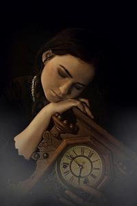 Young Adult Female with Clock by Ariel Marie Miller