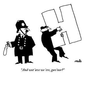 """""""And wot 'ave we 'ere, guv'nor?"""" - New Yorker Cartoon by Ariel Molvig"""