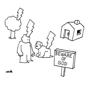 Beware of God - New Yorker Cartoon by Ariel Molvig