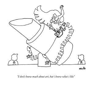"""""""I don't know much about art, but i know what i like."""" - New Yorker Cartoon by Ariel Molvig"""