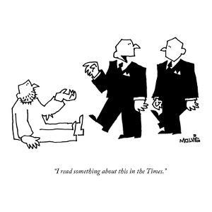 """""""I read something about this in the Times."""" - New Yorker Cartoon by Ariel Molvig"""