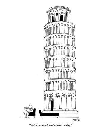 """I think we made real progress today."" - New Yorker Cartoon"
