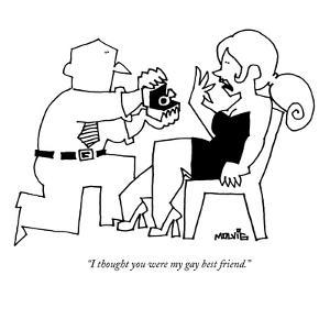 """""""I thought you were my gay best friend."""" - New Yorker Cartoon by Ariel Molvig"""