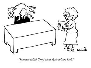 """""""Jamaica called. They want their culture back."""" - New Yorker Cartoon by Ariel Molvig"""