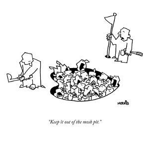 """""""Keep it out of the mosh pit."""" - New Yorker Cartoon by Ariel Molvig"""