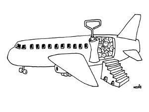 Sardine can plane. - New Yorker Cartoon by Ariel Molvig