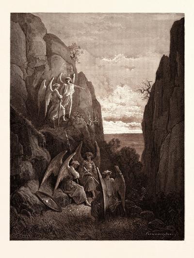 Ariel's Charge to Gabriel-Gustave Dore-Giclee Print