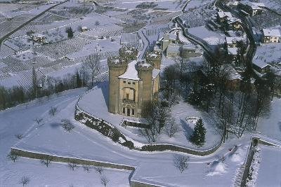 Ariel View of a Castle, Aymavilles Castle, Cogne Valley, Aosta Valley, Italy--Photographic Print