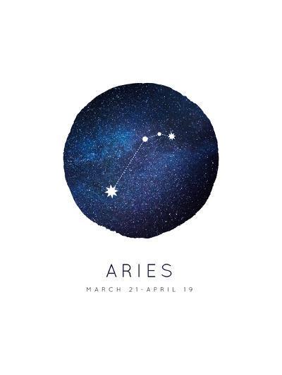 Aries Zodiac Constellation-Rebecca Lane-Art Print