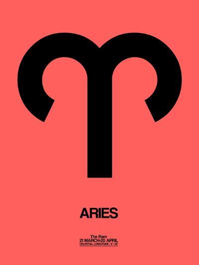 Aries Zodiac Sign Black-NaxArt-Art Print
