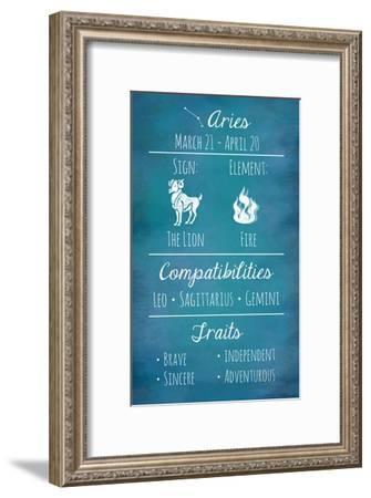Aries Zodiac Sign-Veruca Salt-Framed Art Print