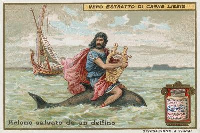 Arion and the Dolphin-European School-Giclee Print