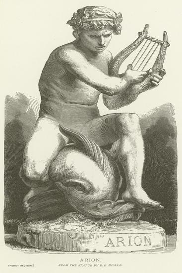 Arion Riding a Dolphin--Giclee Print
