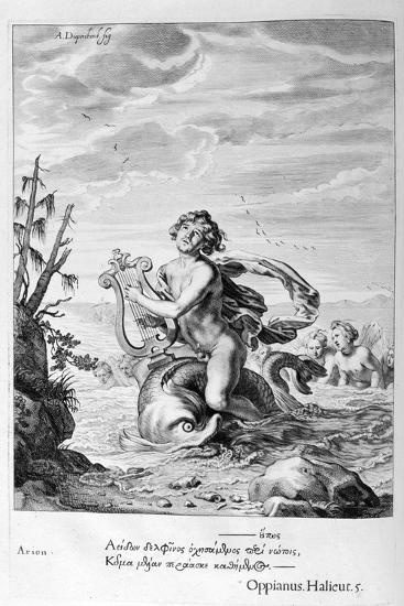 Arion Saved by a Dolphin, 1655-Michel de Marolles-Giclee Print