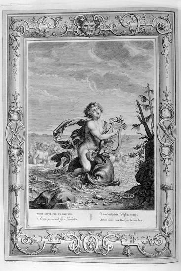 Arion Saved by a Dolphin, 1733-Bernard Picart-Giclee Print