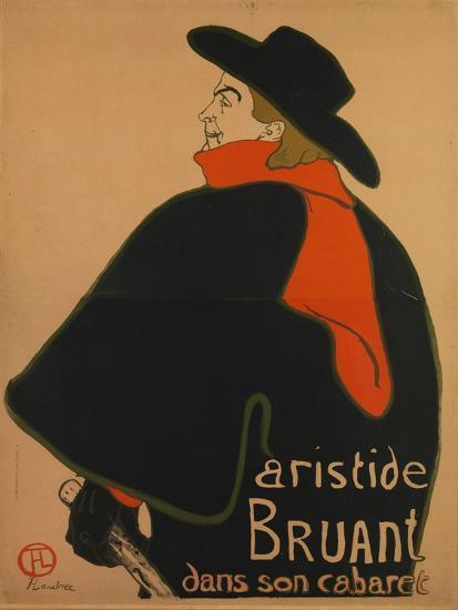 Aristide Bruant, at His Cabaret, 1893-Henri de Toulouse-Lautrec-Giclee Print