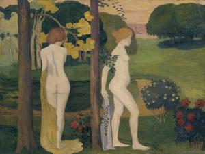 Two Nude in a Landscape by Aristide Maillol
