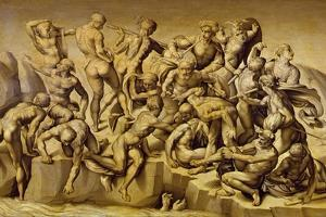 The Battle of Cascina, or the Bathers, after Michelangelo (1475-1564), 1542 by Aristotile da Sangallo