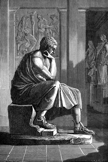 Aristotle (384-322 B), Ancient Greek Philosopher and Scientist--Giclee Print